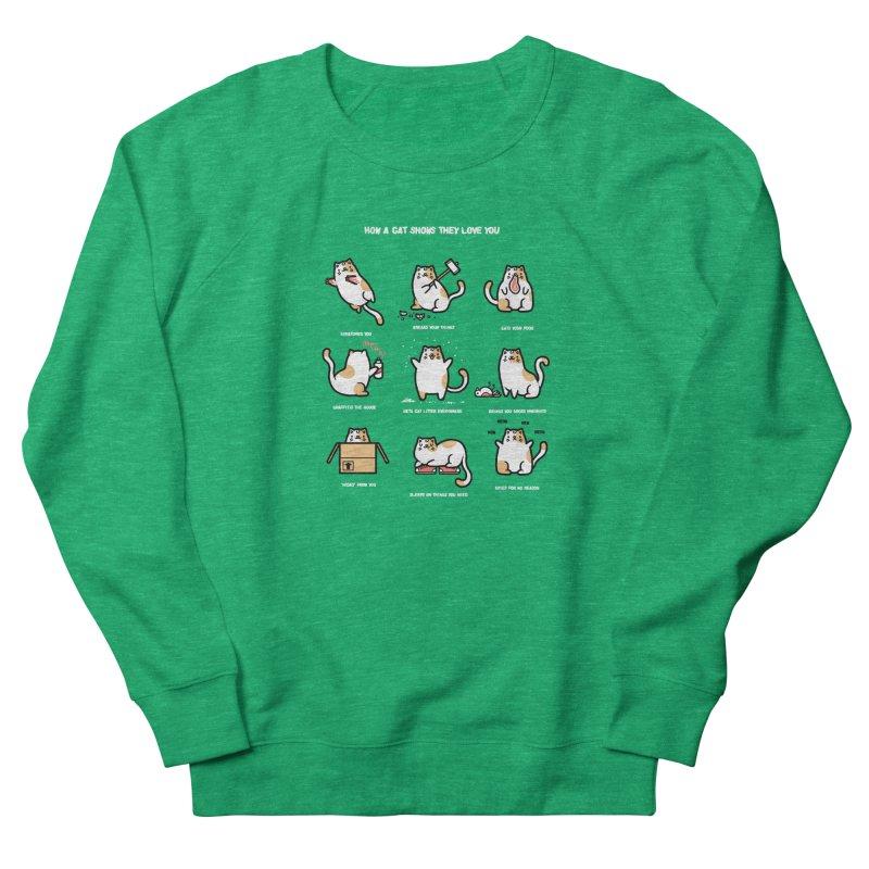 Cat love Men's Sweatshirt by Randyotter