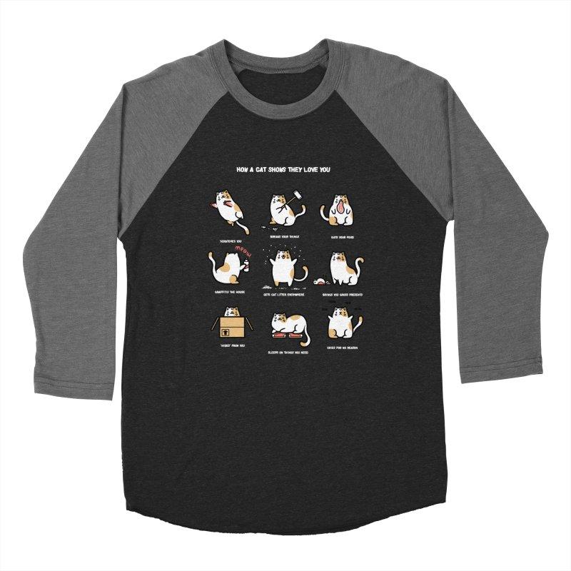 Cat love Women's Baseball Triblend T-Shirt by Randyotter