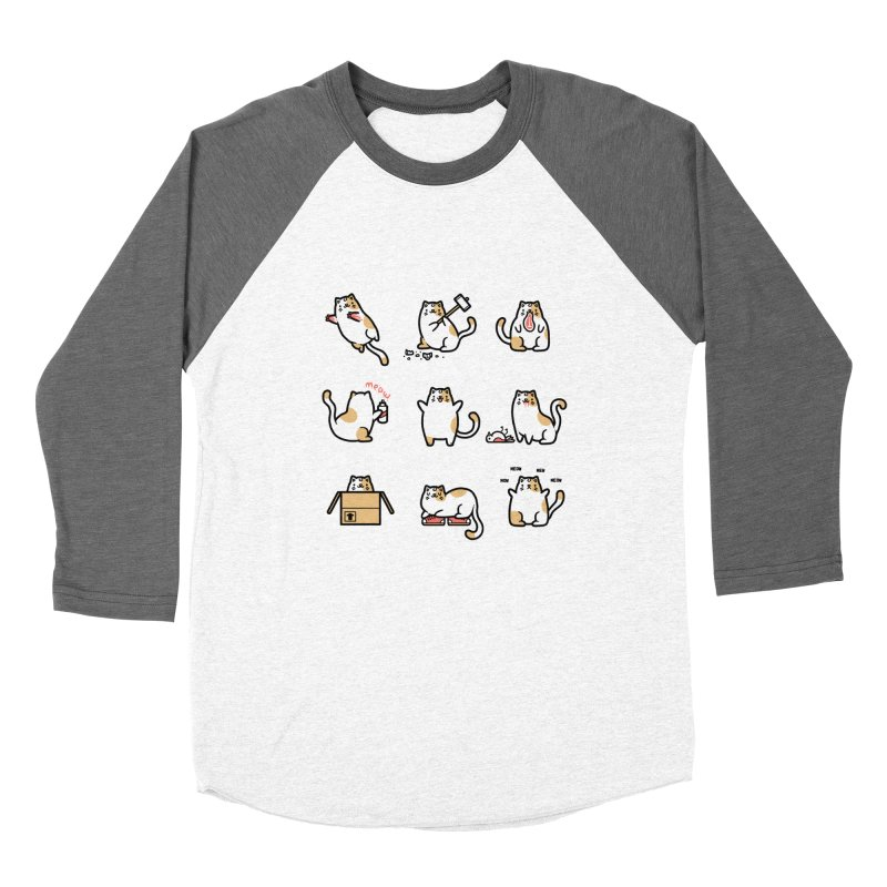 Cat love Men's Baseball Triblend T-Shirt by Randyotter