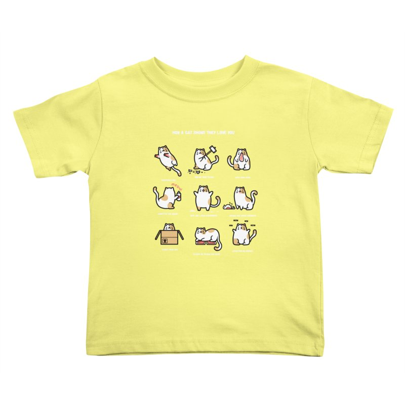 Cat love Kids Toddler T-Shirt by Randyotter