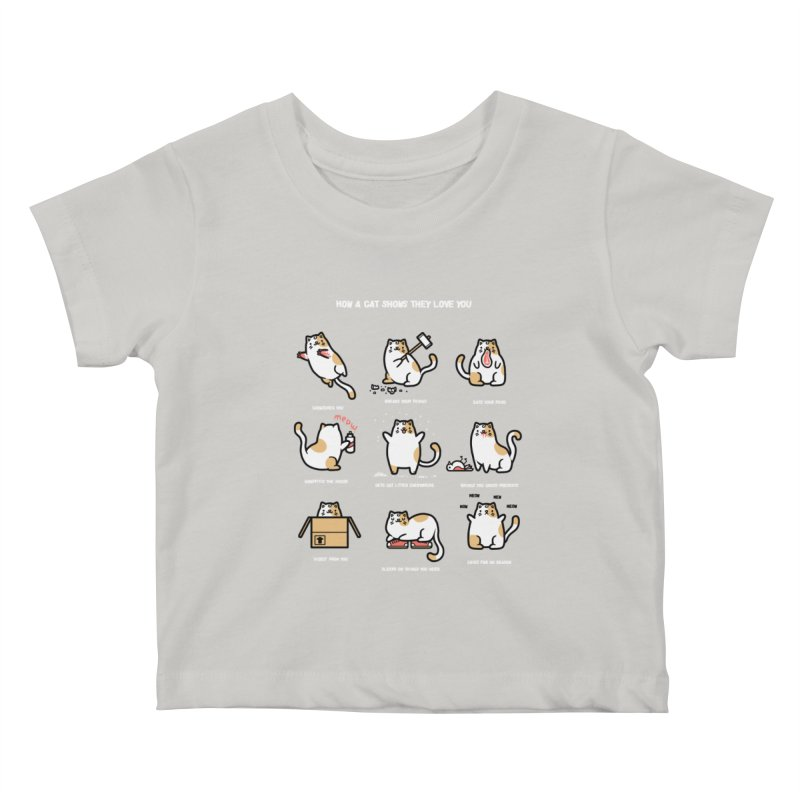 Cat love Kids Baby T-Shirt by Randyotter