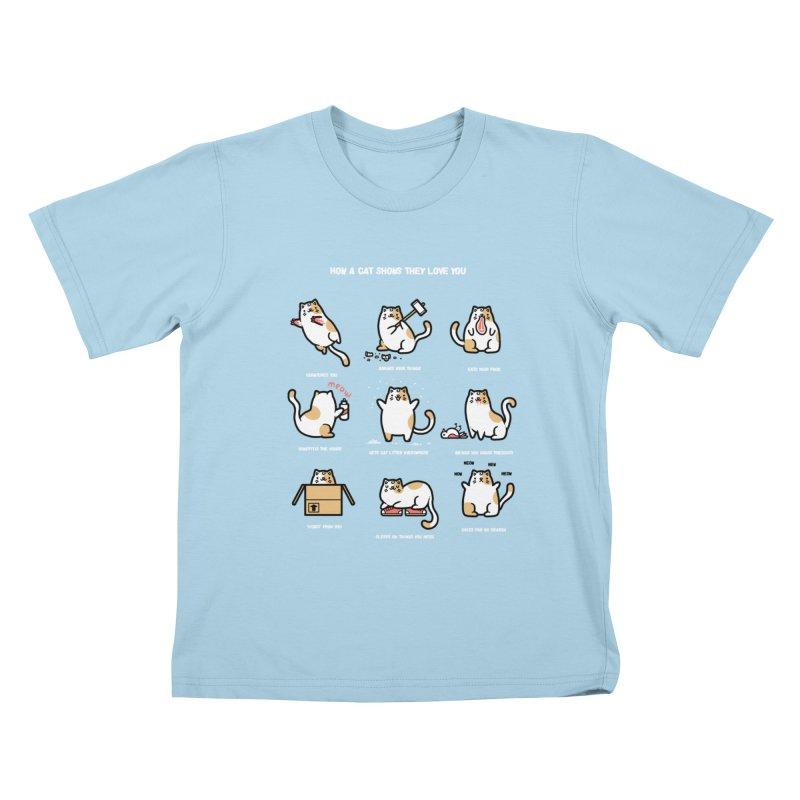 Cat love Kids T-shirt by Randyotter