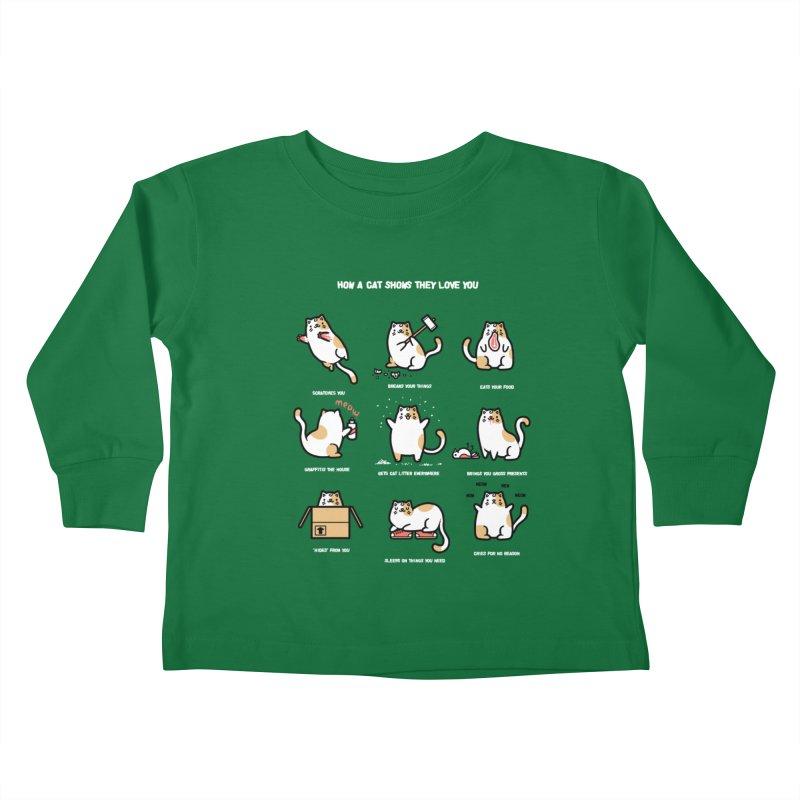 Cat love Kids Toddler Longsleeve T-Shirt by Randyotter