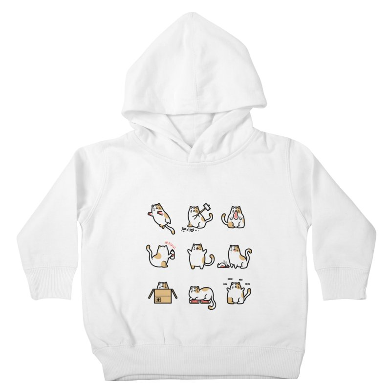 Cat love Kids Toddler Pullover Hoody by Randyotter