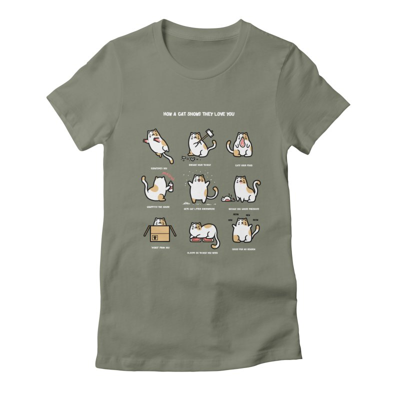 Cat love Women's Fitted T-Shirt by Randyotter