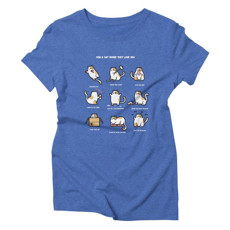 Cat love Women's Triblend T-shirt by Randyotter