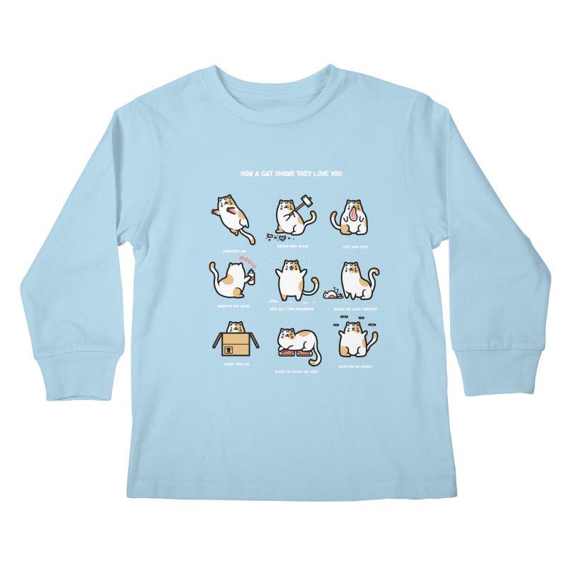 Cat love Kids Longsleeve T-Shirt by Randyotter