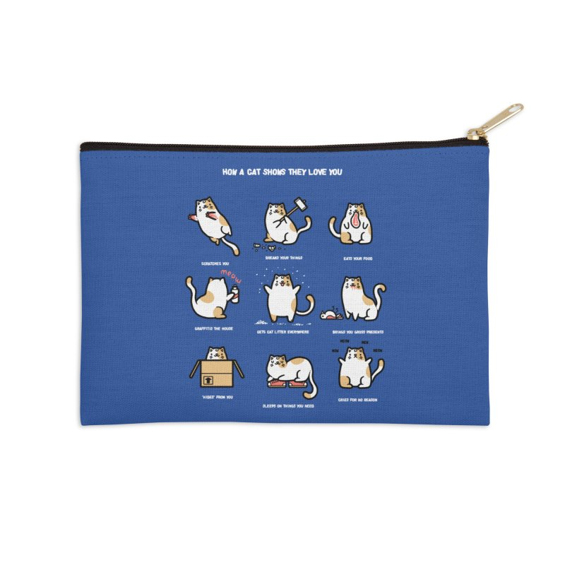 Cat love Accessories Zip Pouch by Randyotter