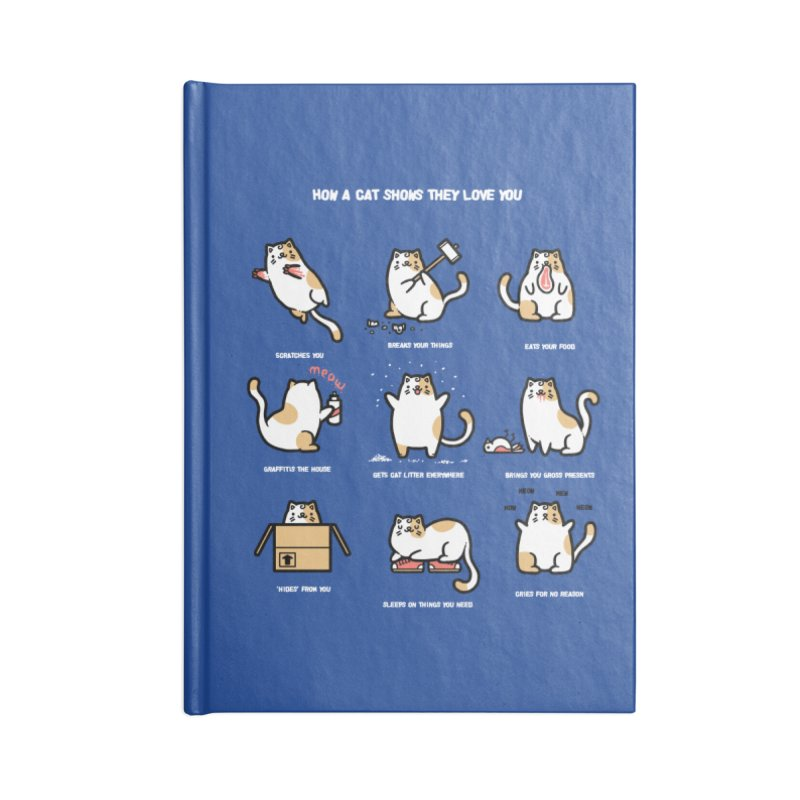 Cat love Accessories Notebook by Randyotter