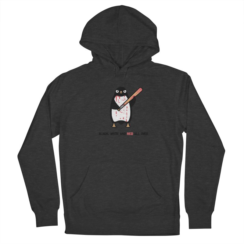 Black white red Men's Pullover Hoody by Randyotter