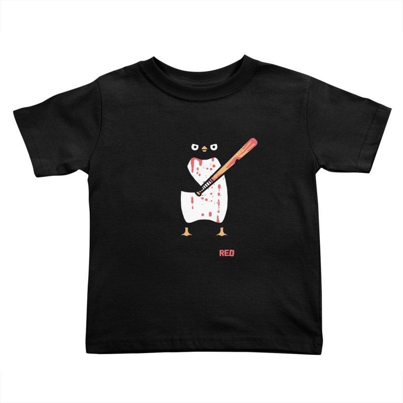 Black white red Kids Toddler T-Shirt by Randyotter