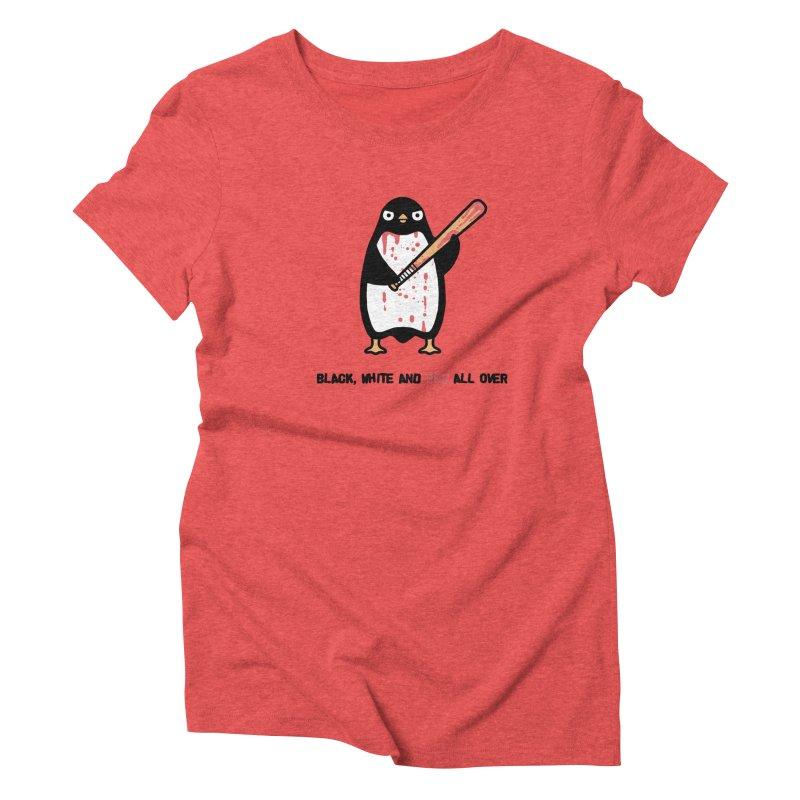 Black white red Women's Triblend T-shirt by Randyotter
