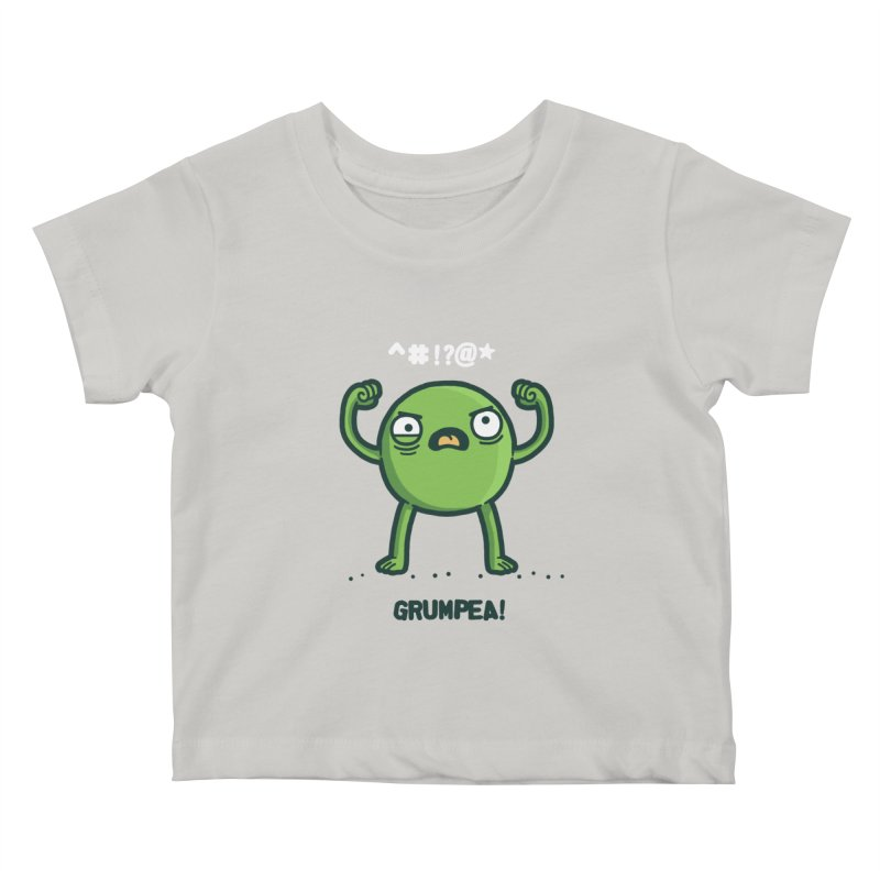 Grumpea Kids Baby T-Shirt by Randyotter