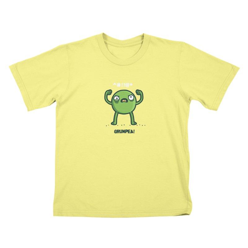 Grumpea Kids T-shirt by Randyotter