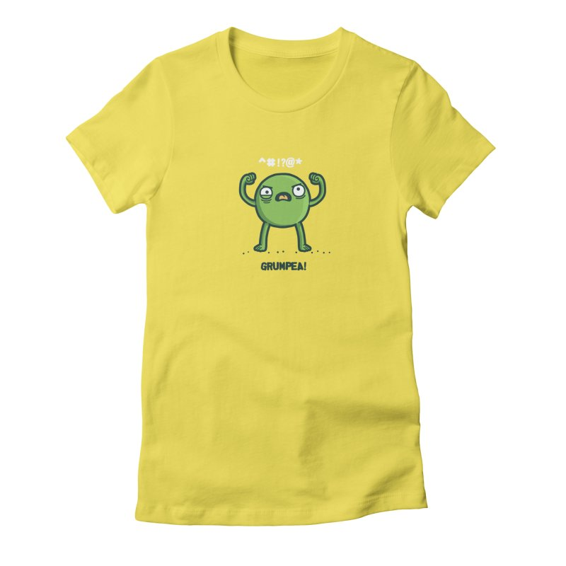 Grumpea Women's Fitted T-Shirt by Randyotter