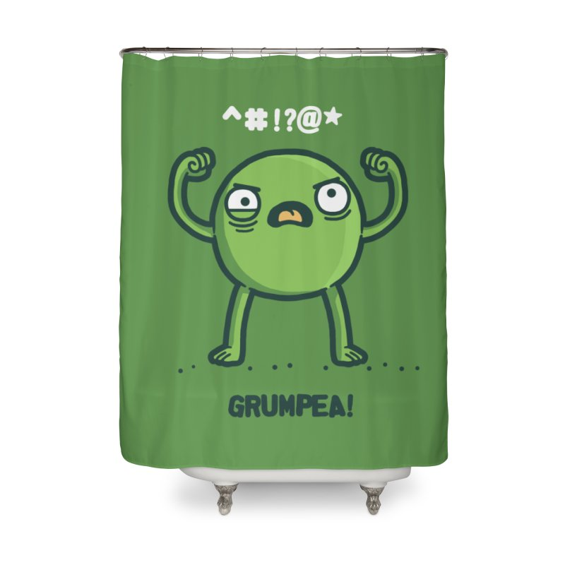 Grumpea Home Shower Curtain by Randyotter