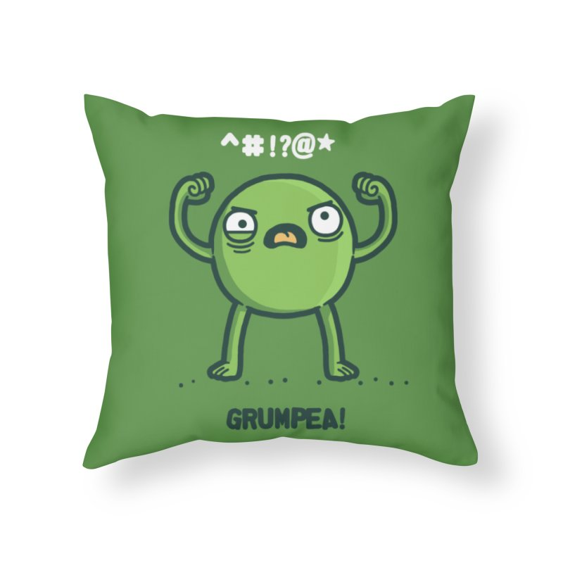Grumpea Home Throw Pillow by Randyotter