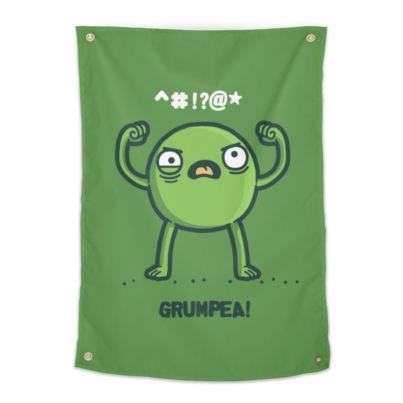 Grumpea Home Tapestry by Randyotter