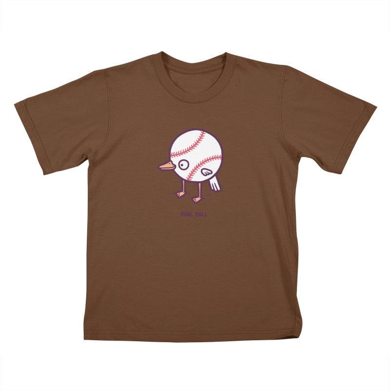 Fowl ball Kids T-shirt by Randyotter