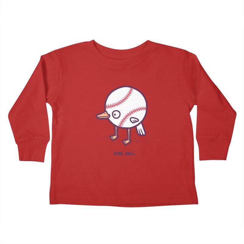 Fowl ball Kids Toddler Longsleeve T-Shirt by Randyotter