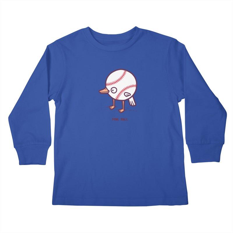 Fowl ball Kids Longsleeve T-Shirt by Randyotter
