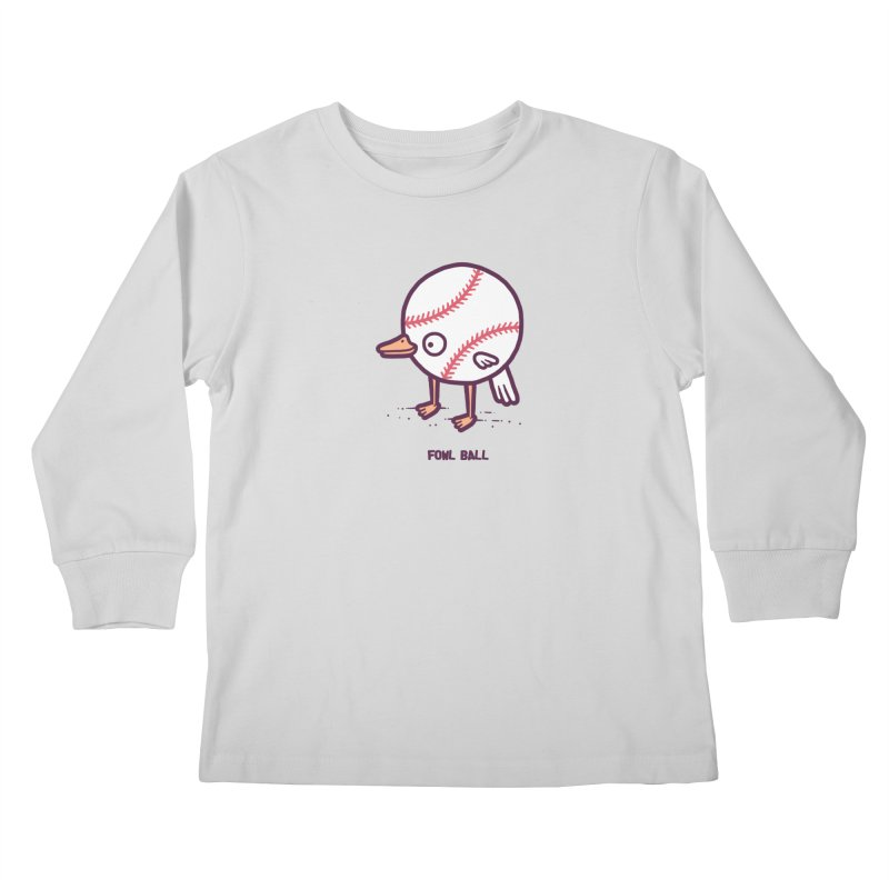 Fowl ball Kids Longsleeve T-Shirt by Randyotter