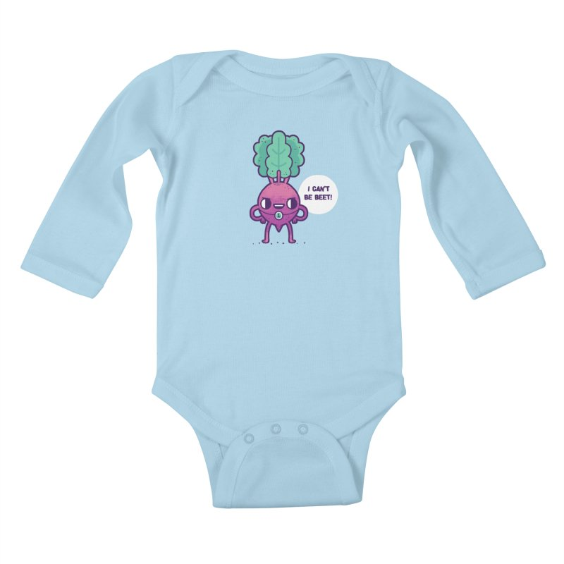 Can't be beet! Kids Baby Longsleeve Bodysuit by Randyotter