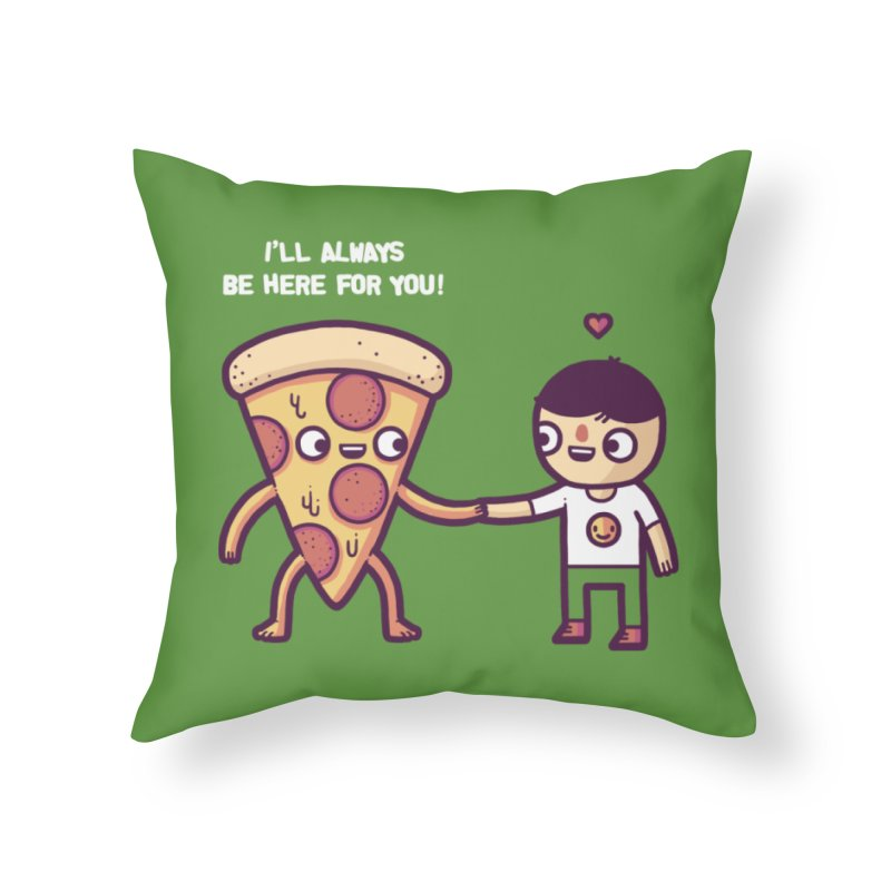 Here for you Home Throw Pillow by Randyotter
