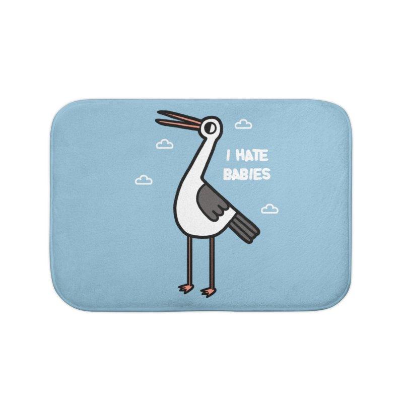 I hate babies Home Bath Mat by Randyotter