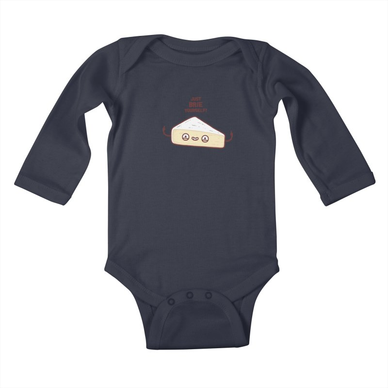Brie yourself Kids Baby Longsleeve Bodysuit by Randyotter