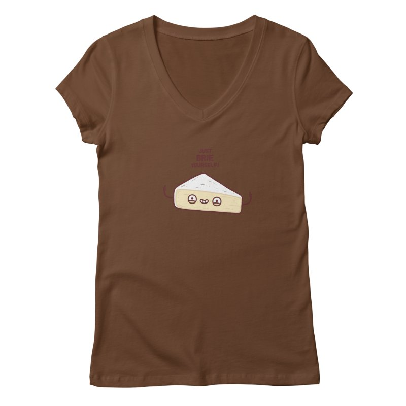 Brie yourself Women's V-Neck by Randyotter