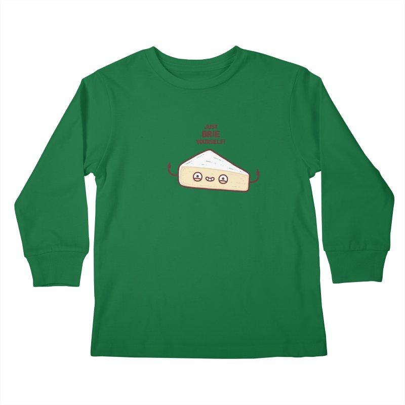 Brie yourself Kids Longsleeve T-Shirt by Randyotter
