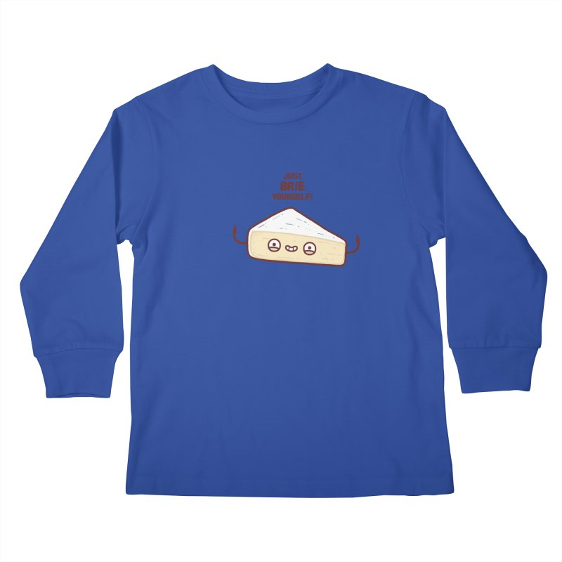 Brie yourself Kids Longsleeve T-Shirt by Randyotter