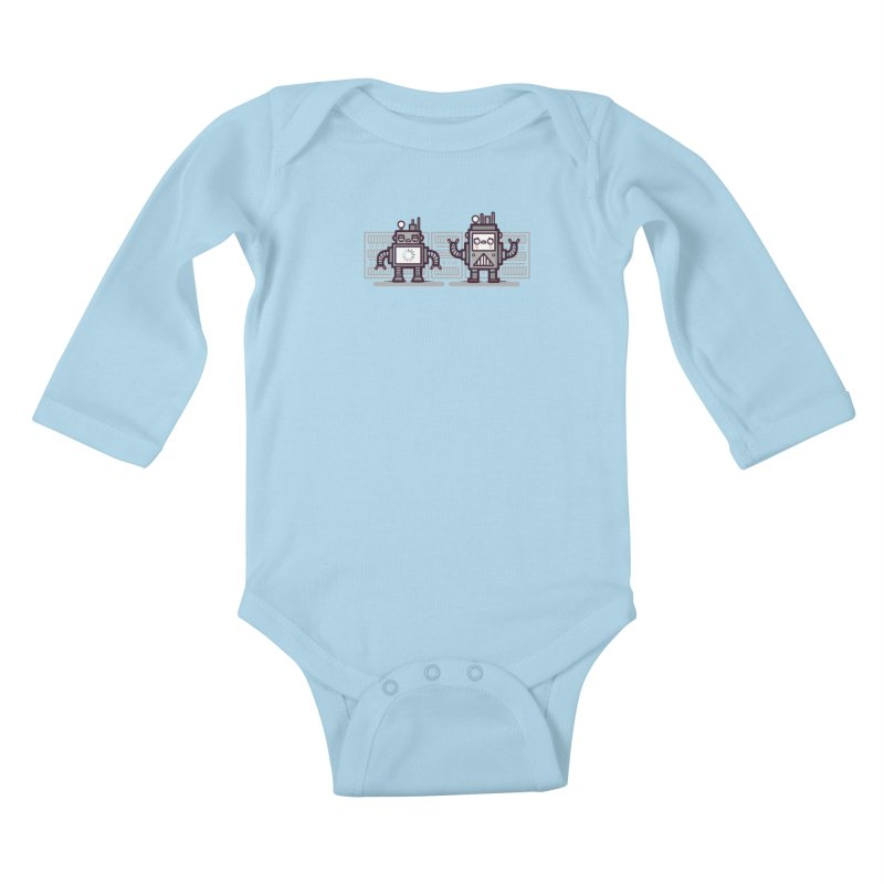 Buffering Kids Baby Longsleeve Bodysuit by Randyotter