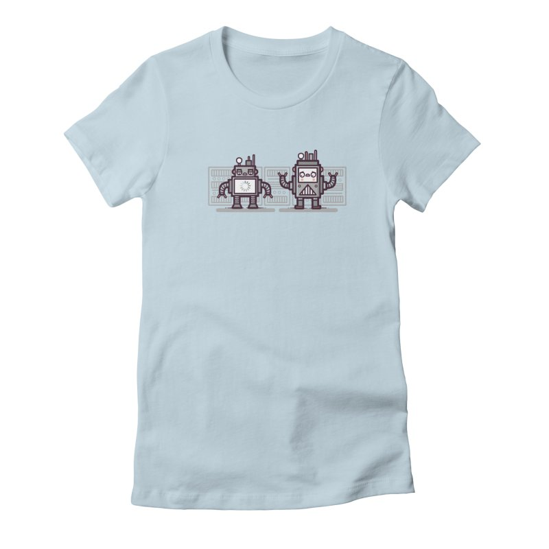 Buffering Women's Fitted T-Shirt by Randyotter