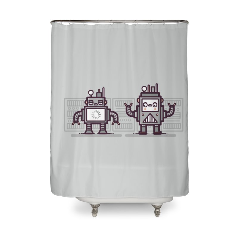 Buffering Home Shower Curtain by Randyotter