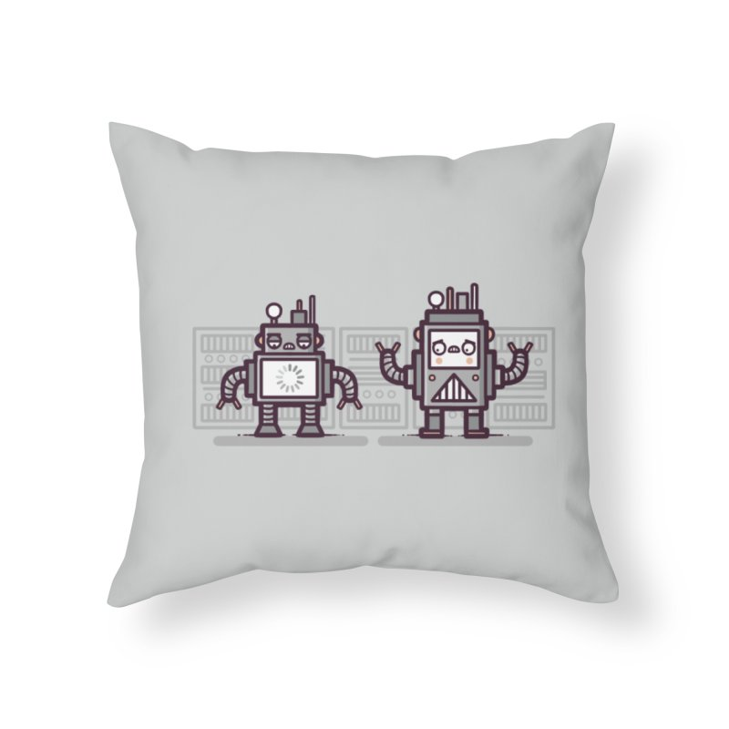 Buffering Home Throw Pillow by Randyotter