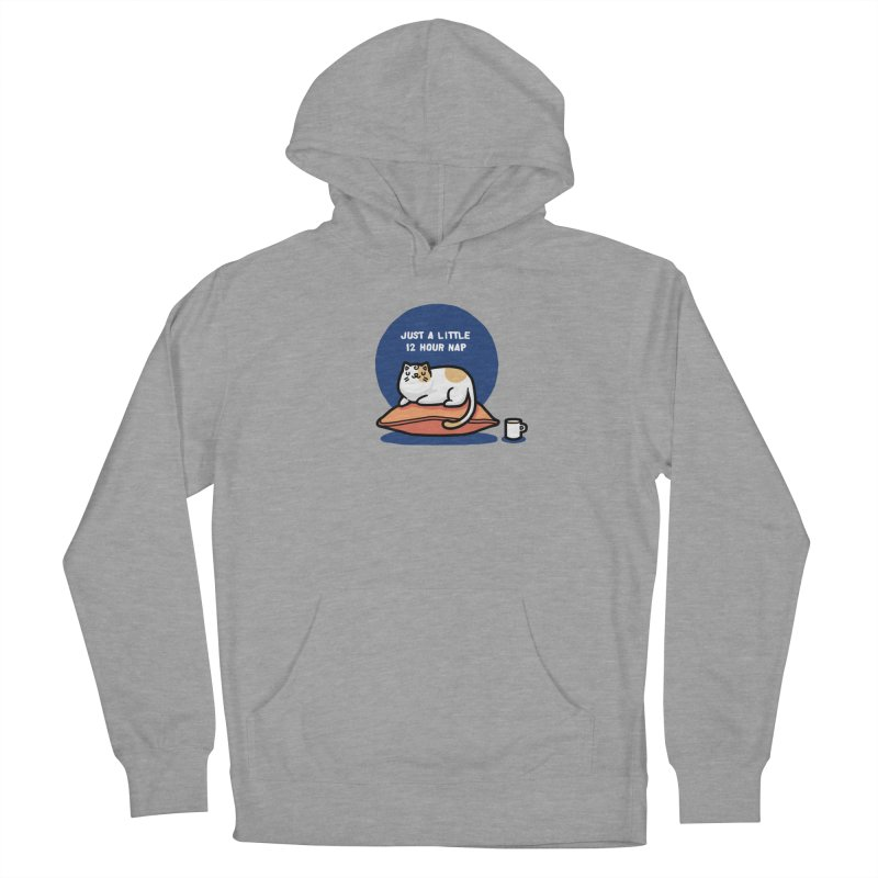 Cat nap Women's French Terry Pullover Hoody by Randyotter