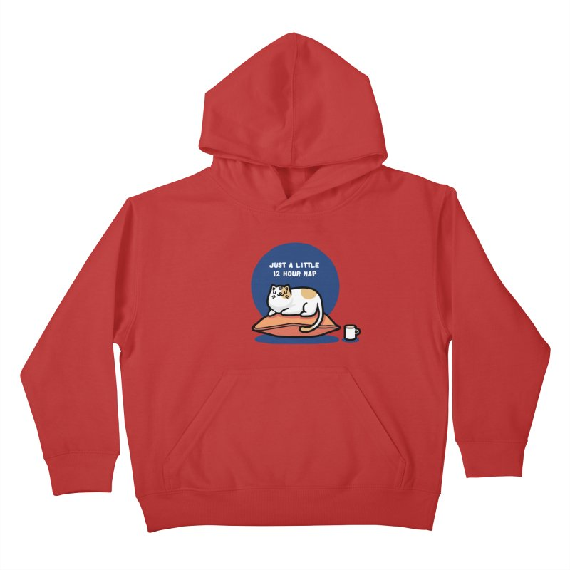Cat nap Kids Pullover Hoody by Randyotter