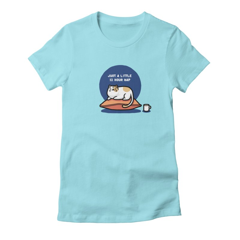 Cat nap Women's Fitted T-Shirt by Randyotter