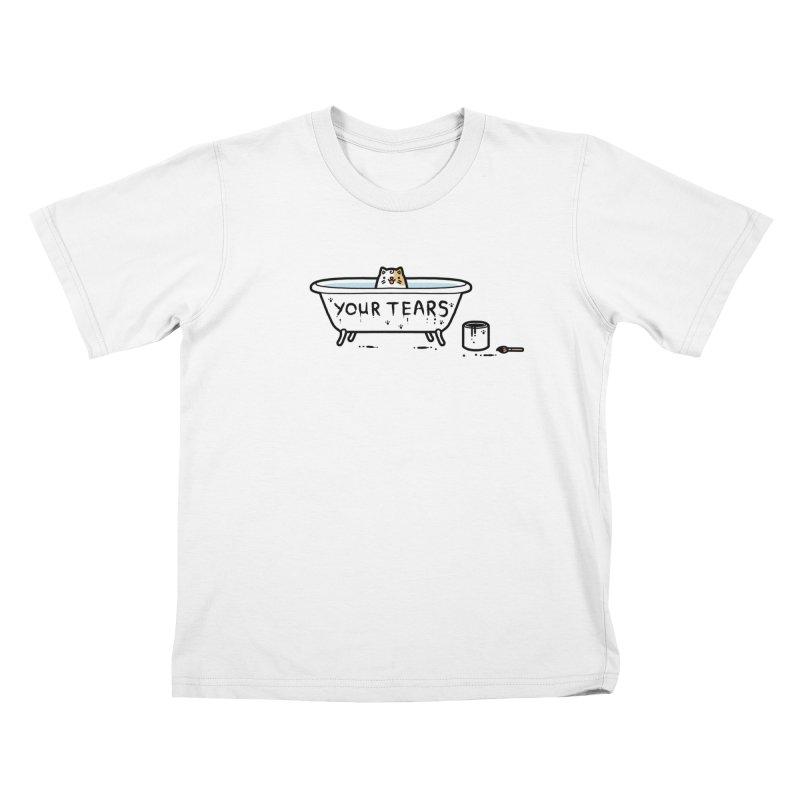 Bath time Kids T-shirt by Randyotter