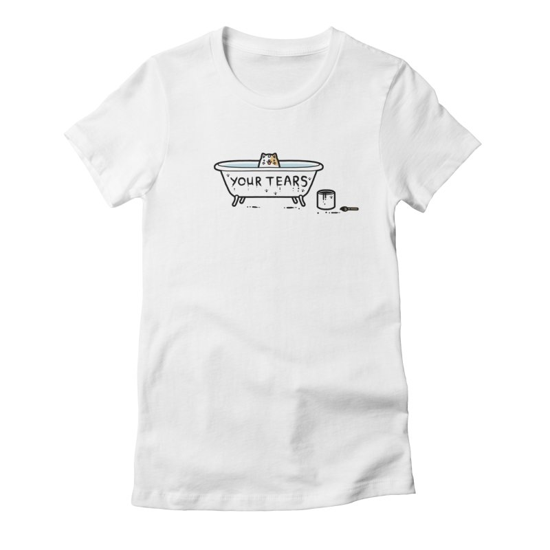 Bath time Women's Fitted T-Shirt by Randyotter