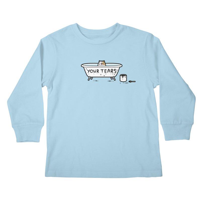 Bath time Kids Longsleeve T-Shirt by Randyotter
