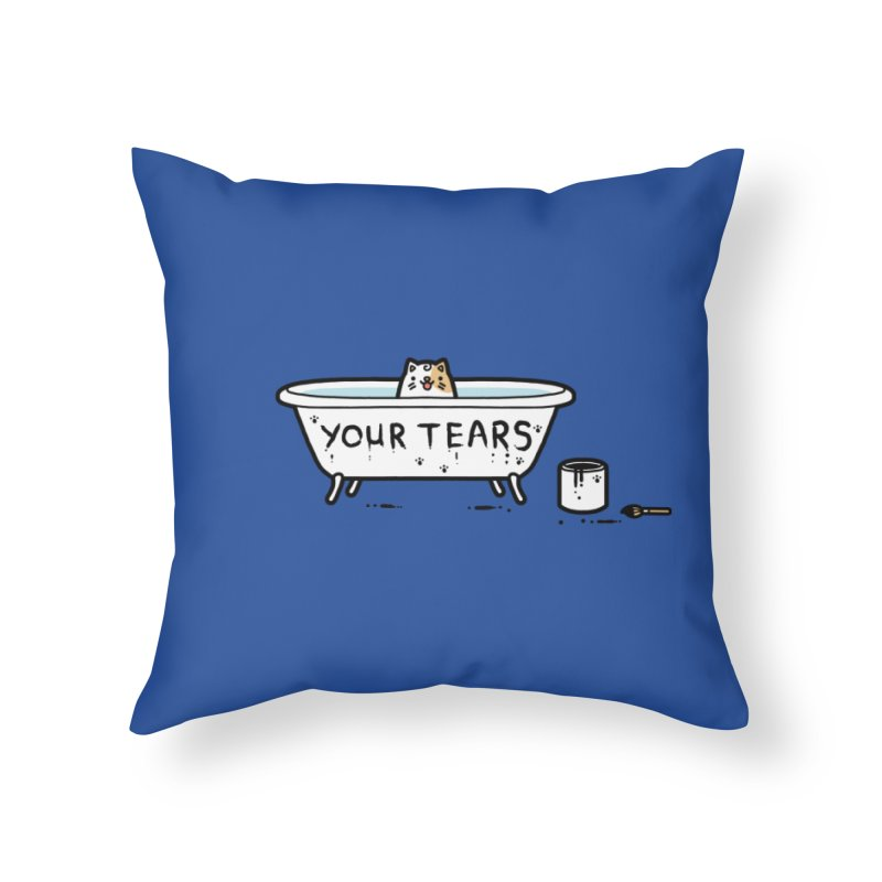 Bath time Home Throw Pillow by Randyotter