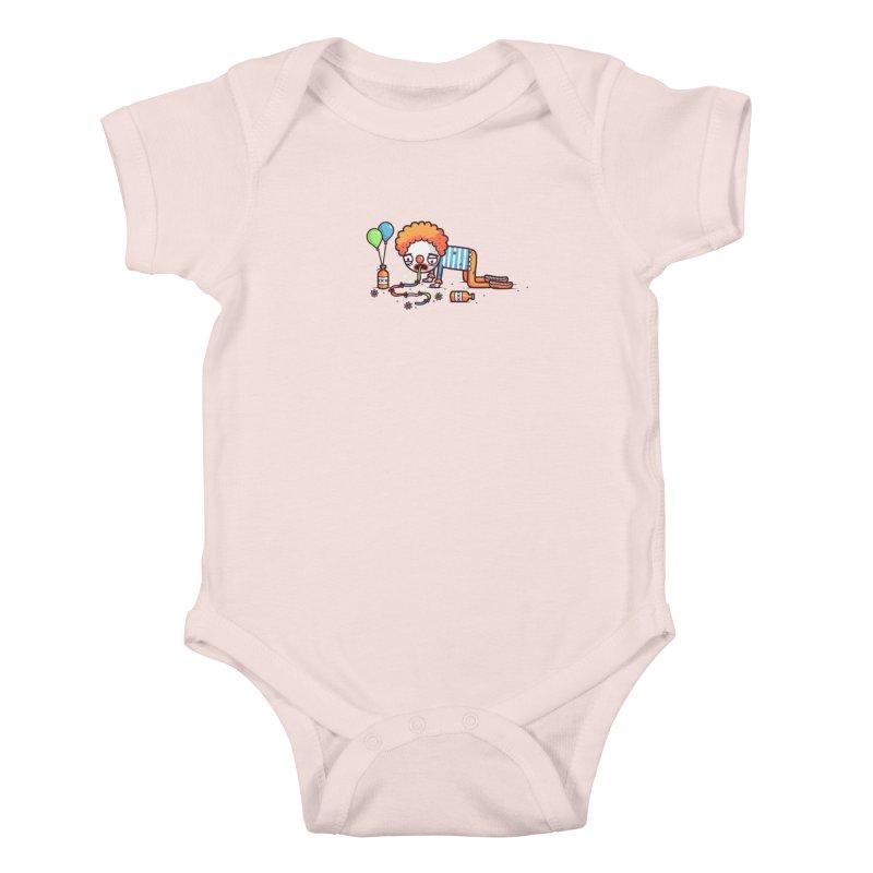 Not funny Kids Baby Bodysuit by Randyotter