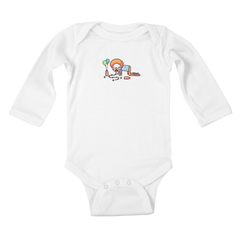 Not funny Kids Baby Longsleeve Bodysuit by Randyotter