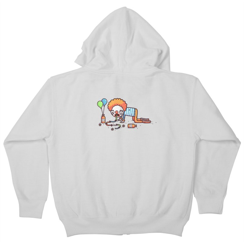 Not funny Kids Zip-Up Hoody by Randyotter