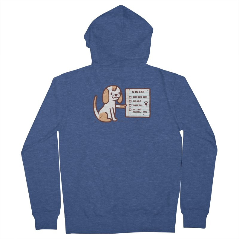 Dog to do Men's Zip-Up Hoody by Randyotter