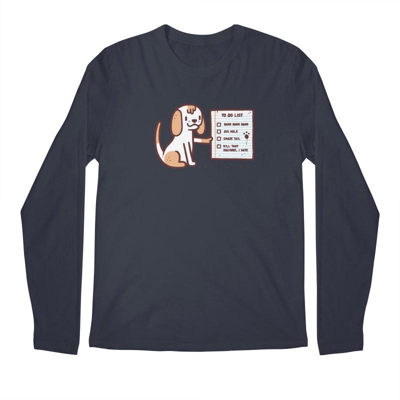 Dog to do Men's Regular Longsleeve T-Shirt by Randyotter