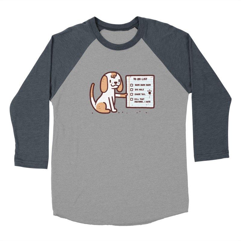 Dog to do Women's Baseball Triblend T-Shirt by Randyotter